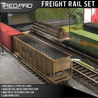 Freight Railcar Set