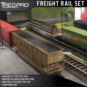 Freight Railcar Set